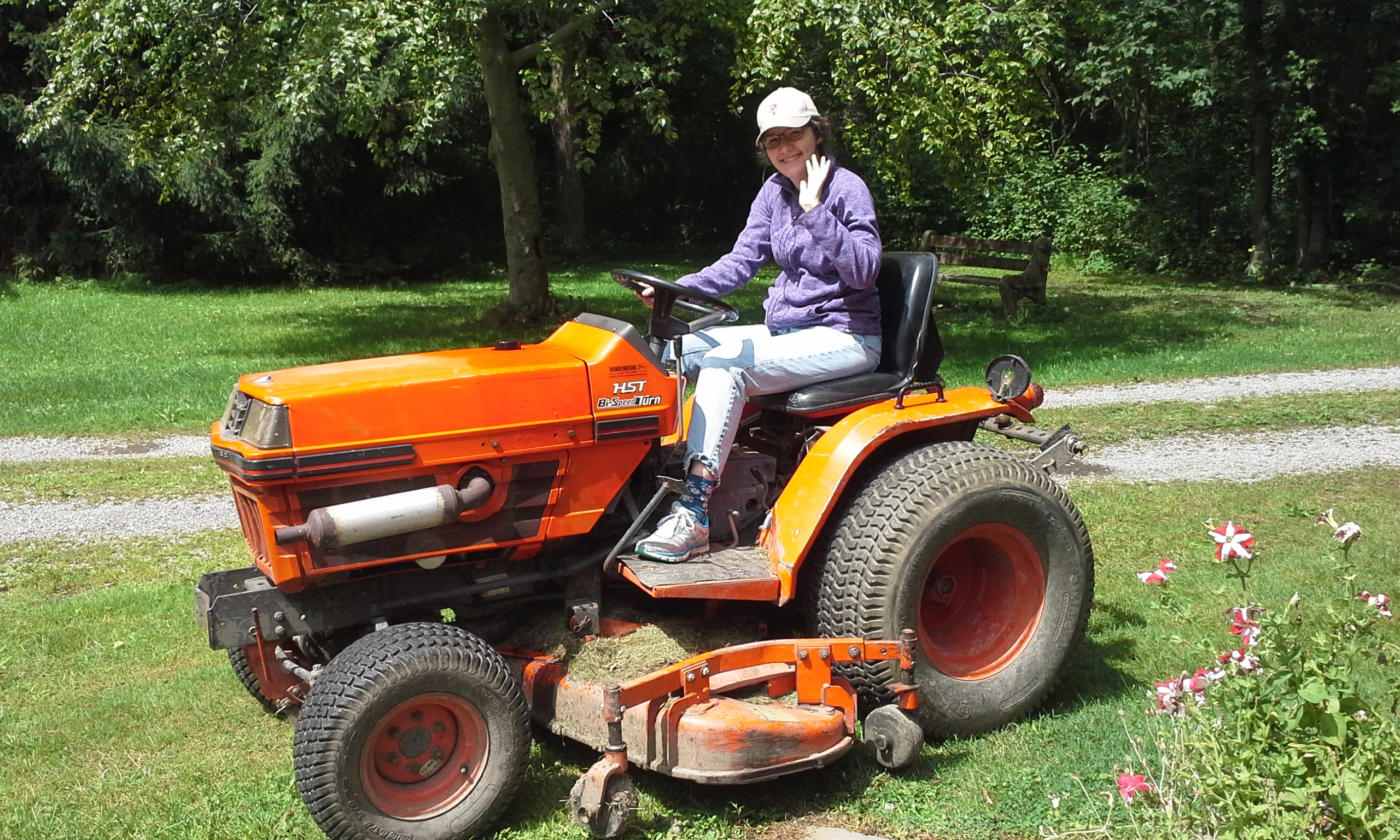 shannon on tractor